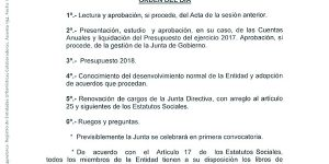 Convocatoria Asamblea General 2018